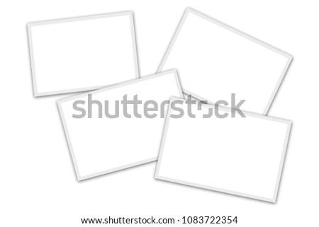 4 blank overlapping photo...