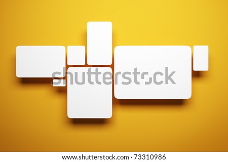 blank pictures on the wall, 3d render