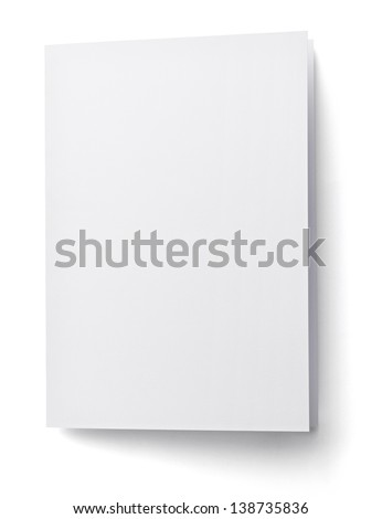 blank white paper on white background with clipping path #138735836