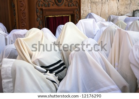 Blessing Cohen in the Passover at the Western Wall in Jerusalem.