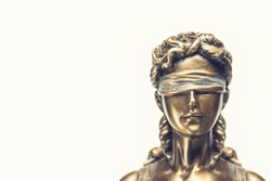 blind lady justice or Iustitia / Justitia the Roman goddess of Justice