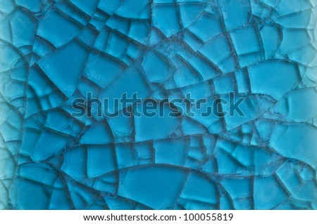 blue background with cracks