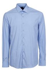 blue classic long sleeve shirt
