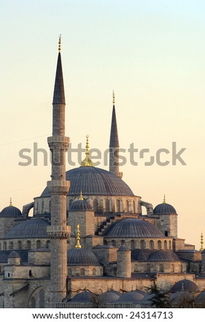 Blue Mosque At Sunset, Istanbul, turkey.