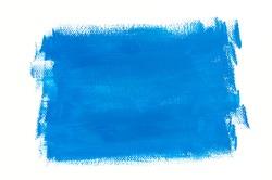 blue painted background on white paper