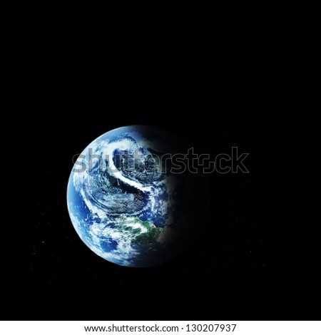 "blue  planet earth  in space. ""Elements of this image furnished by NASA"""