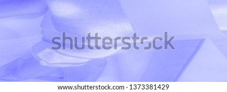 blue silk striped fabric with a metallic sheen. #1373381429