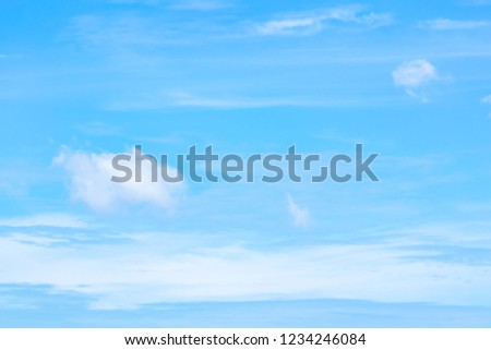 Blue sky with white clouds during the afternoon. #1234246084