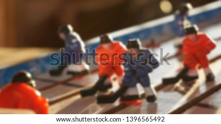 blurred defocused background  board game hockey                        #1396565492