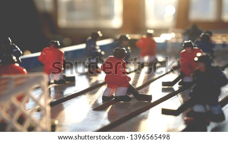 blurred defocused background  board game hockey                        #1396565498