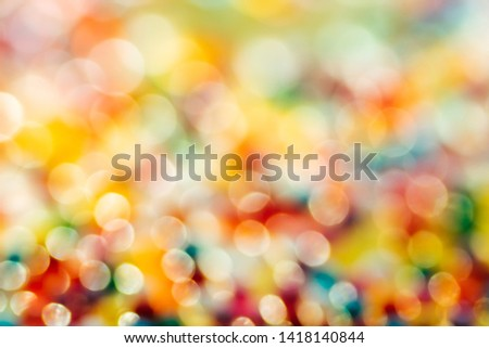 Blurred in defocus multi color christmas lights. Happy new year wallpaper decorations concept.xmas holiday festival backdrop:sparkle circle lit celebrations display  #1418140844