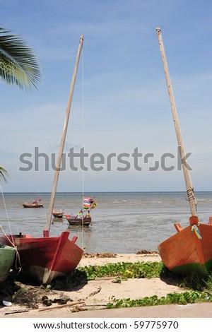 Boat Fisherman - stock photo