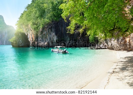 boat on island in Thailand