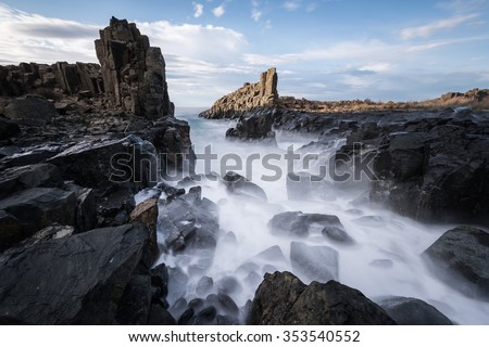 Bombo Headland waterfall  in Kiama, Australia #353540552