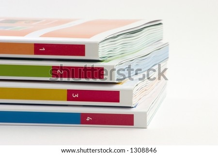 4 books on a white background