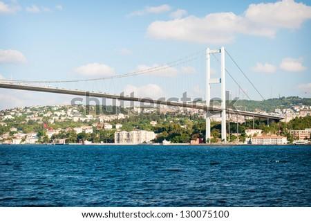 Bosporus bridge also called First Bosporus Bridge in Istanbul. Turkey