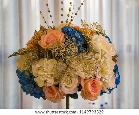 bouquet of wedding roses #1149793529