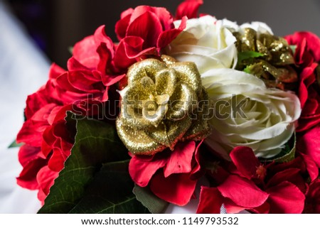 bouquet of wedding roses #1149793532