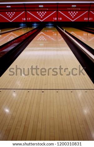 Bowling alley lane