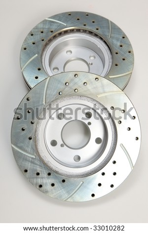 Brand New drilled and slotted brake rotors