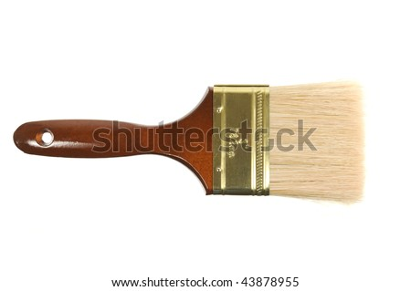 Brand new paint brush isolated on a white background