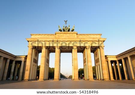 """Brandenburger Tor"", Berlin, Germany - stock photo"
