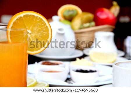 breakfast and orange juice #1194595660
