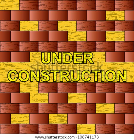 Brick under construction background