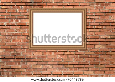 Brick wall texture with frame