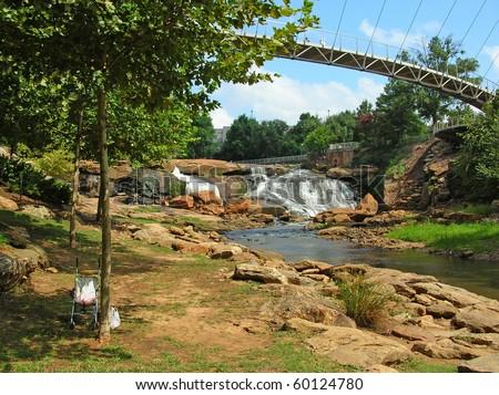 Bridge across Falls Park