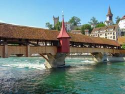 Bridge Sprejerbrukke through Royce. Lucerne. Switzerland