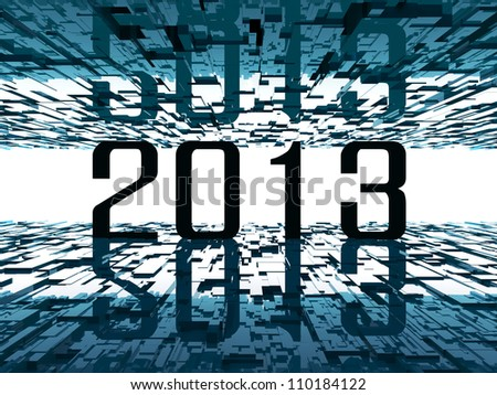 2013 bright future - abstract futuristic background