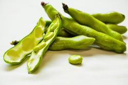 Broad beans and pods from Japan