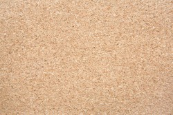 Brown cork board texture, top view. Natural material, natural background.