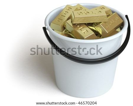 bucket. In my portfolio there is collection of pictures of gold. You only enter IN a SEARCH the Photographer Name: PAVEL IGNATOV and keyword: GOLD