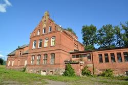 Building of the former school Shillena (1892). Settlement of Zhilino, Kaliningrad region