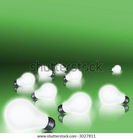 2 bulbs on green