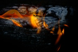 burning wood with flames that warms the home and heart