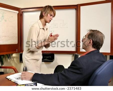 Business Junior and Senior- failed presentation at work