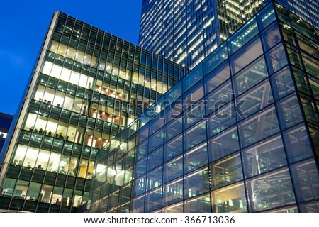 Business office building in London, England, UK