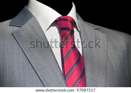 Businessman in   elegant suit, business meeting