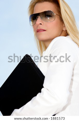 businesswoman on the go