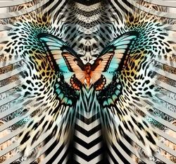 butterfly  geometric pattern; leopard skin