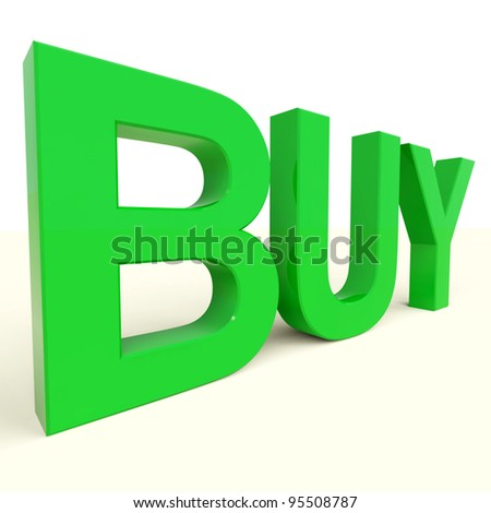 Buy Letters In Green As Symbol for Commerce And Purchasing
