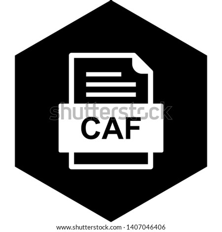 CAF File Document Icon In Trendy Style Isolated Background