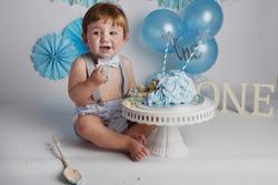 Cake Smash Birthday celebration for one year old boy