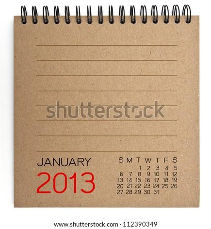 2013 Calendar brown Texture Paper