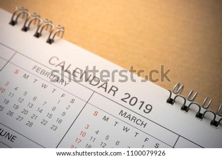 2019 Calendar cropped. #1100079926