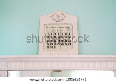 calendar for lovers with a moving heart white color #1005656776