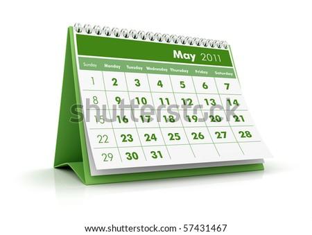 2011 Calendar. May